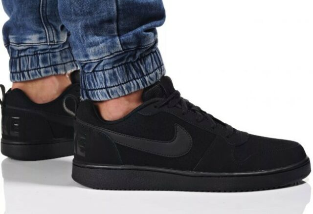 Nike Mens Court Borough Low Top Basketball SNEAKERS Black Size 12 Style  838937
