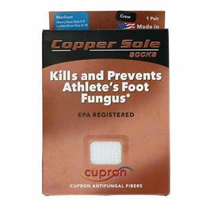"""COPPER SOLE  Premium Crew Sock Unisex    """"MADE IN USA"""" --- ANTIFUNGAL---"""