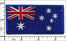 10 Pcs Embroidered Iron on patch National Flag Badge Australia 4.3x8.6cm AP051Cd