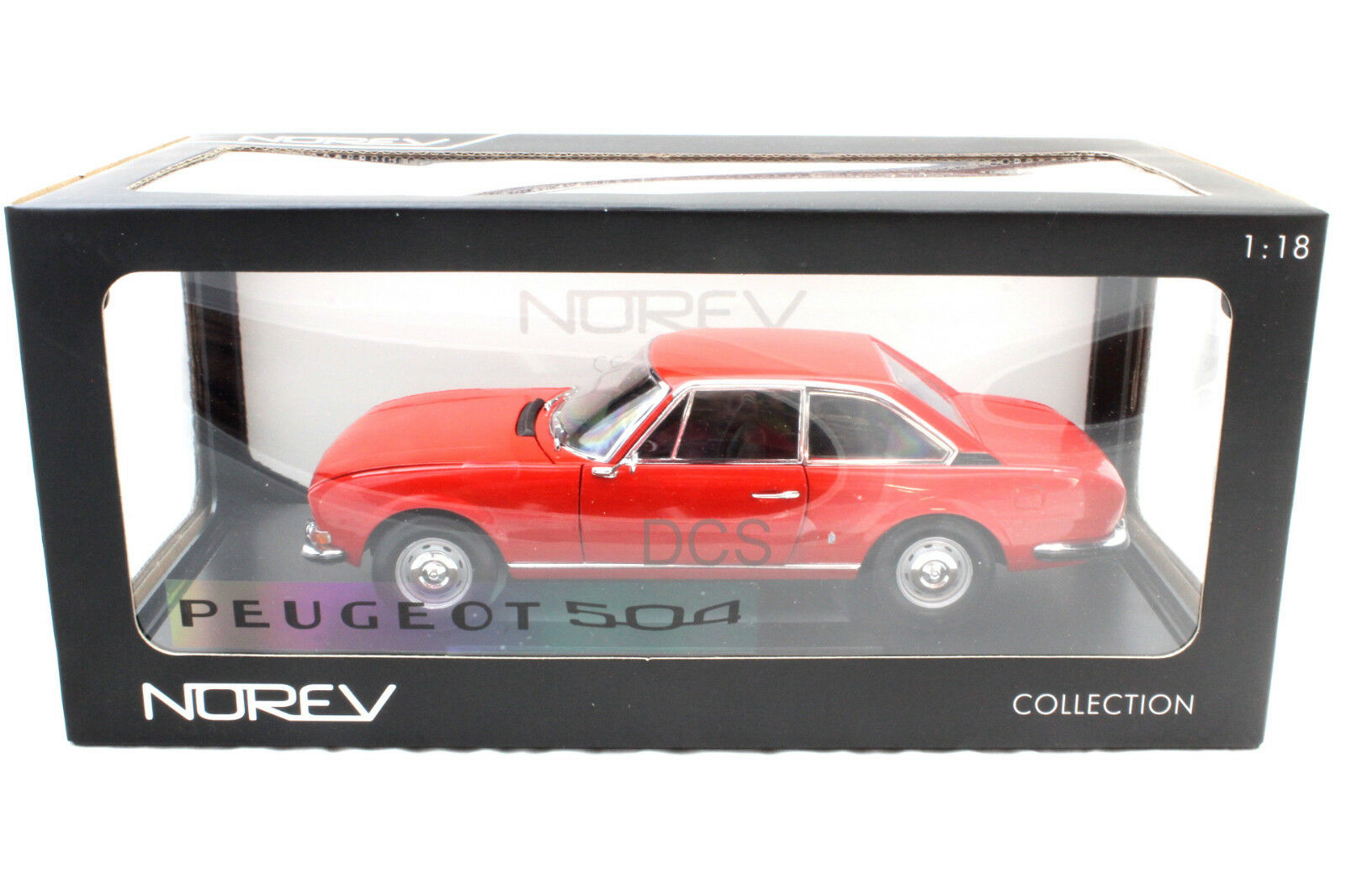 Norev 1971 Peugeot 504 Coupe rosso 1 18 Diecast