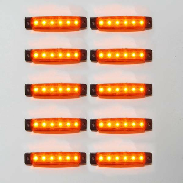 10 x 12v Led Giallo Lampadina Luce Posizione Laterale Para Transporter
