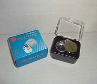 10x 21mm Chrome Plated Jeweler's Loupe Glass Lens Round Metal Housing Loop