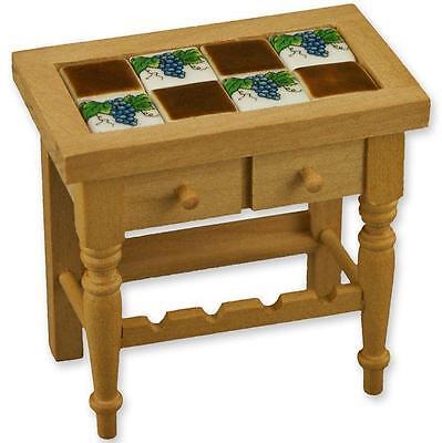 Dollhouse Wine Table w Grape Porcelain Tiles 1.764//0 Reutter Miniature 1:12