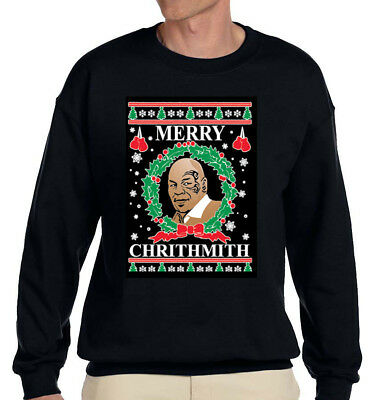 Merry Chrithmith Ugly Christmas Sweater Funny Mike Tyson Parody adult Sweatshirt