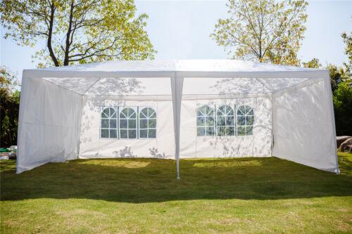 New 3 x 6m 120g Waterproof Outdoor PE Garden Gazebo Marquee Canopy Party Tent