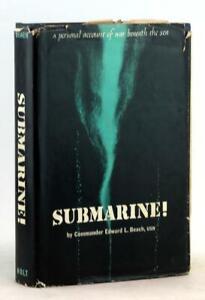Edward Beach Signed 1957 Submarine War Beneath the Sea WWII Hardcover w/DJ