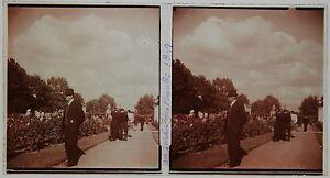 Parigi Francia Targa Di Vetro Pos. Stereo Amateur 1948 Vintage 7x13cm