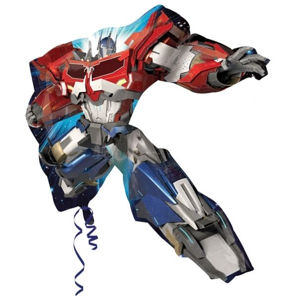 "TRANSFORMERS Giant 35""x32"" Optimus Prime Foil Helium BALLOON Birthday Party"