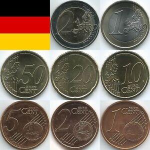Deutschland Euromünzen von 2011 bis 2019, unzirkuliert/bankfrisch