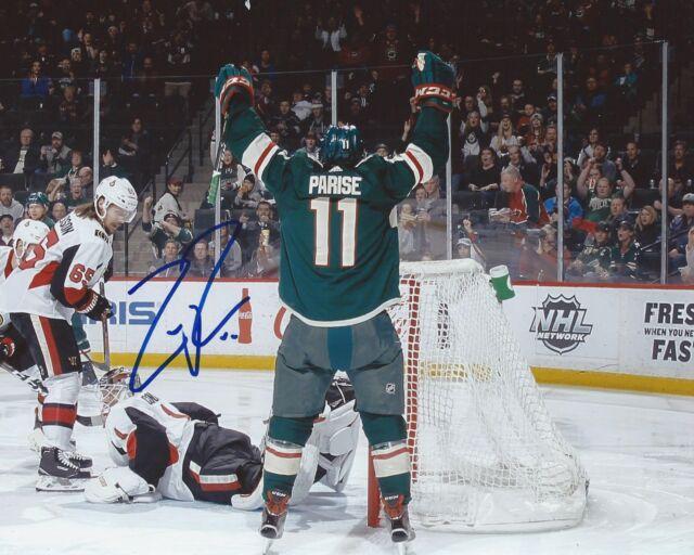 Zach Parise Signed 8x10 Photo Minnesota Wild Autographed COA