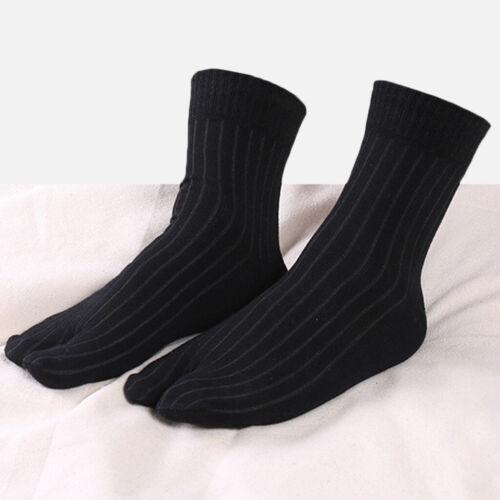 Elastic Cotton Tabi Socks 2 Toe Socks Flip-Flops Socks Unisex Black