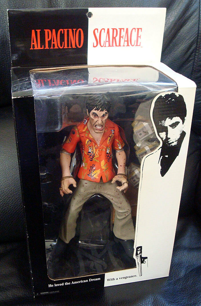 Mezco SCARFACE THE RUNNER  BLOODY OPEN MOUTH VARIANT  redo Style Action Figure