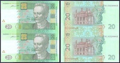 UKRAINE 20 HRYVEN 2013 P 120 UNC