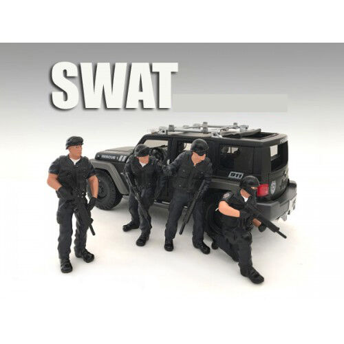 SWAT TEAM 4PC FIGURE SET SET SET FOR 1 24 AMERICAN DIORAMA 77468,77469,77470,77471 b5e4f6