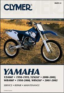 1998 2002 Yamaha Wr Wrf Yz Yzf 400 426 Yz400 Yz426 Wr400 Wr426 Clymer Manual Ebay