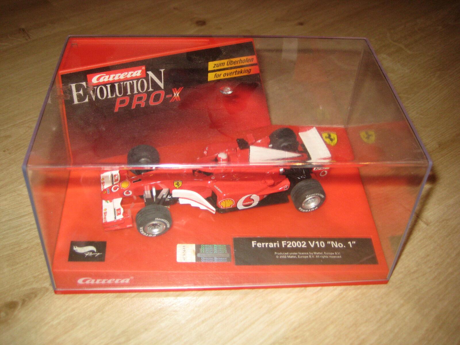 Carrera Pro-X 30201 Ferrari F2002 V10 No. 1 OVP & NEU (altes Boxendesign)
