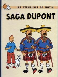 TINTIN-PASTICHE-SAGA-DUPONT-Album-cartonne-2017-32-pages-couleurs-HC