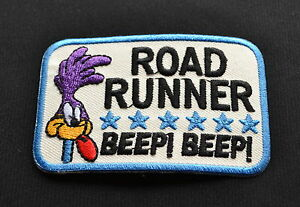 Road-Runner-Patch-Vintage-Aufbuegler-Aufnaeher-Old-School-V8-Rockabilly-Mopar