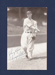 Johnny Kerr signed Chicago White Sox baseball postcard 1898-1993