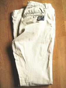 Camisa-De-Hombre-Pantalones-Beige-Slim-Straight-Chino-de-Superdry-M-Cintura-30-Pulgadas-L-34-en