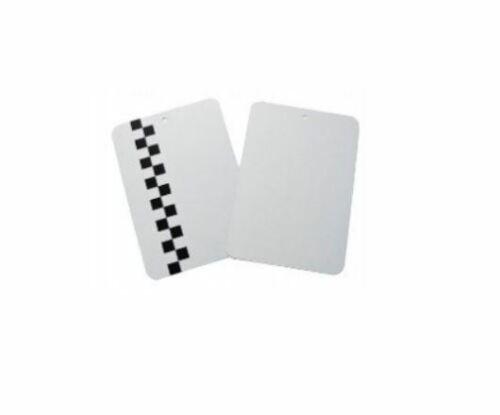 Blue-car set x5 metallene lacktestkarte für spritzproben test karten