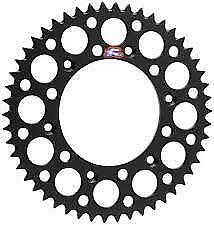 Renthal 47T Black Rear Sprocket 154-520-47BK to fit Honda CR250 1986-2003
