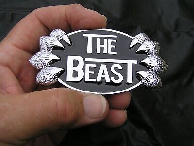 THE BEAST CHRYSLER 300C Grill REPLACEMENT EMBLEM Chrome Metal Car Badge NEW