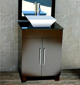 Image Is Loading 24 034 Bathroom Vanity Inch Cabinet Black