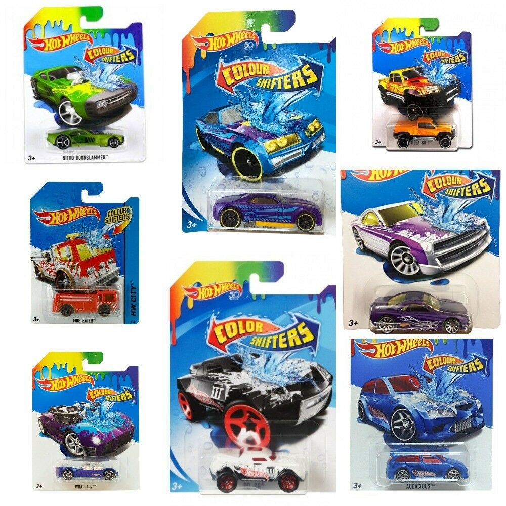 NEW 2018 HOT WHEELS COLOUR SHIFTERS BHR15 CHOOSE YOUR MODEL 1 64 ASSORTMENT
