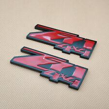 2PCS TRD SPORT METAL SIDE FENDER V EMBLEM BADGE STICKER RED 150mm