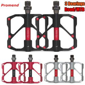 "PROMEND Ultralight Mountain Bicycle Pedal MTB Road Bike Pedal 3 Bearing 9//16/"""