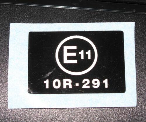 Triumph T140 Bonneville E Noise Suppression Decal white on black 60-7168