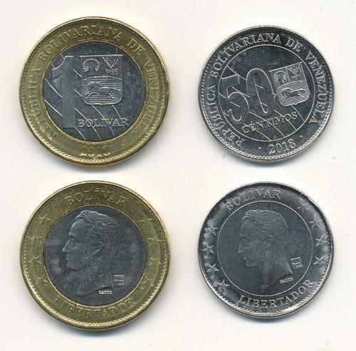 1 Bolivar SOBERANO 2018 UNC Lemberg-Zp Venezuela 5 pcs x 50 Centimos