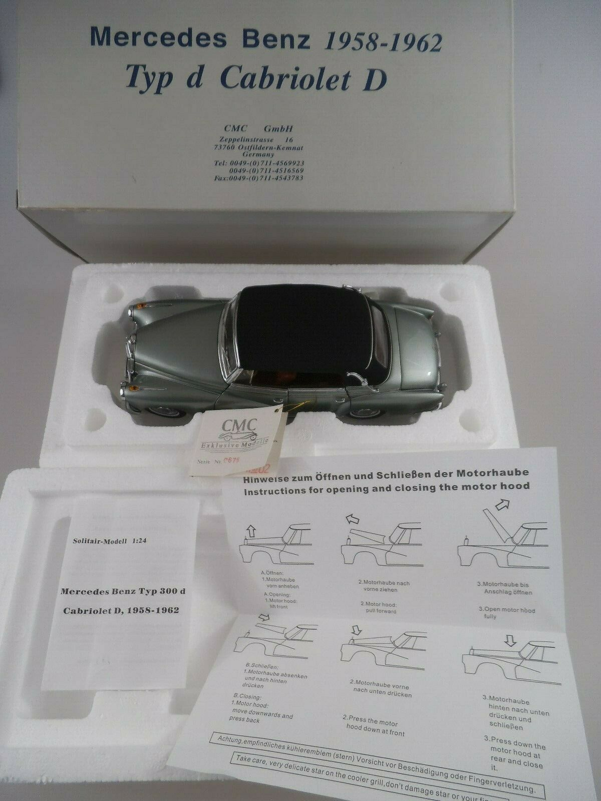 Modello CMC m-026 MERCEDES Tipo D Cabrio 1 24 (3026)