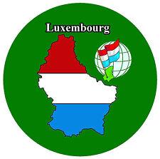 LUXEMBOURG MAP / FLAG - SOUVENIR NOVELTY FRIDGE MAGNET - NEW - GIFT / XMAS