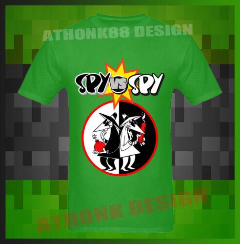Hot SPY vs SPY Comic Cartoon T-SHIRT Mad Magazine Men/'s Black T-Shirt