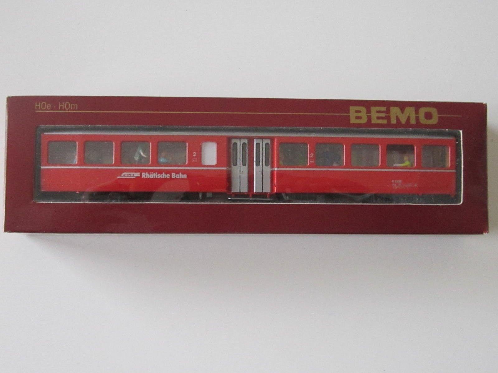 Bemo HOm 3284 120 Personenwagen Mitteleinstieg, 2.Klasse, mit Figures, RhB, neu