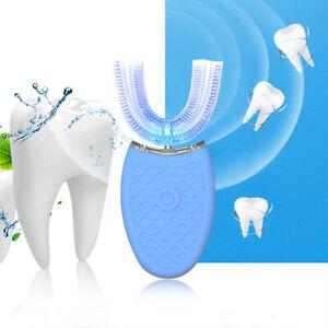 360°Wireless Automatic Electric Sonic Toothbrush Teeth Blue P5U3 Light M5Z7