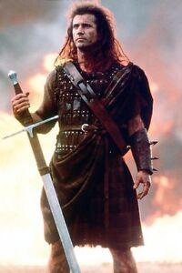 mel gibson 11x17 mini poster defiant holding sword braveheart iconic