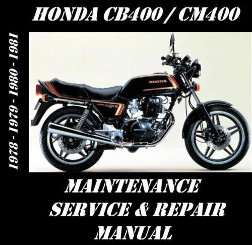 Honda CB400 CM400 CB CM 400 Service Repair Maintenance Rebuild Manual 1978-81
