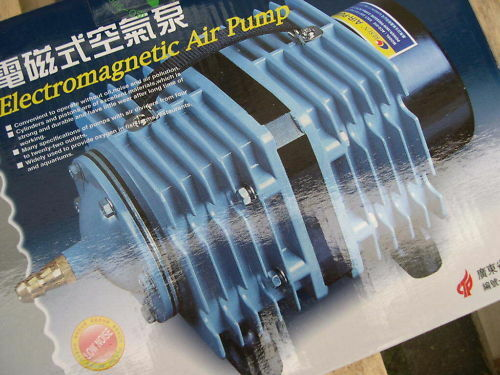 Reuse Sauerstoffpumpe 8580l//h Teichbelüfter Kolbenpumpe Ausströmer Eisfreihalter