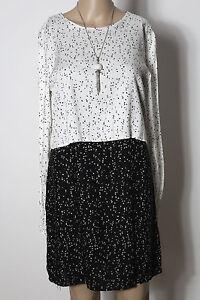 ZARA Kleid Gr. S/L schwarz-weiß kurz/mini Muster Lagen ...