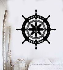 Vinyl Wall Decal Ships Wheel Sailor Nautical Decor Stickers Mural (ig4252)