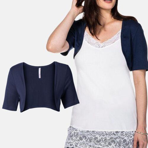 Wow nuevo talla 44//46//48 bolero camisa juboncito chaqueta Jersey Marine azul oscuro