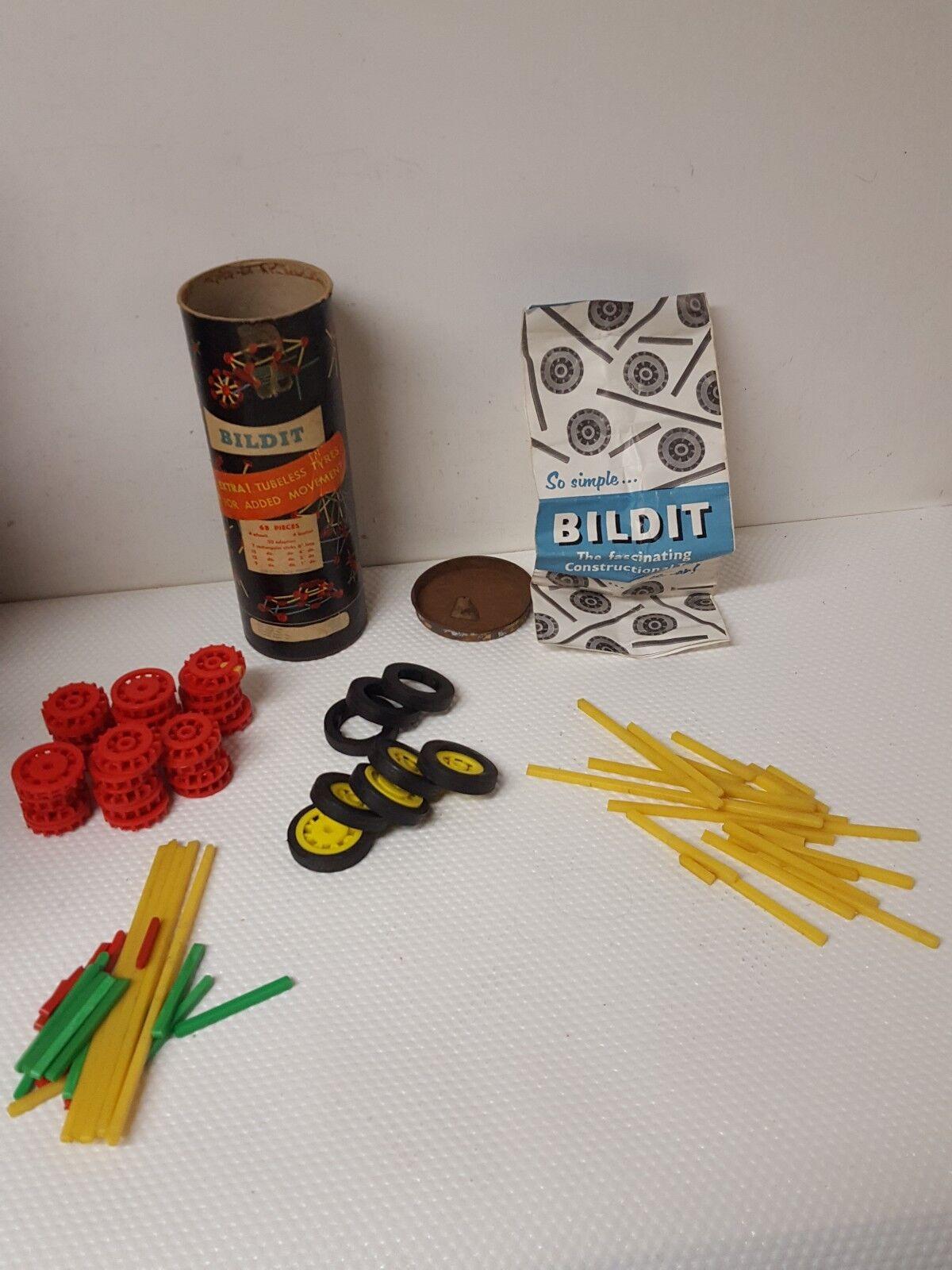 Bildit Constructional Toy by Plysu Housewares Ltd vintage Building Toy