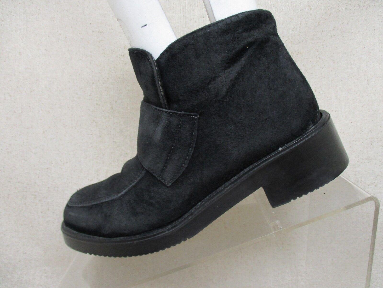 a buon mercato Hush Puppies nero Suede Side Zip Zip Zip Waterproof Ankle Fashion stivali Dimensione 5 M  per il commercio all'ingrosso
