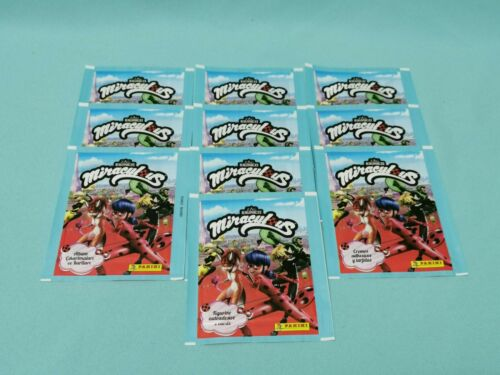 Panini Miraculous Ladybug 10 Tüten 50 Sticker /& Trading Cards