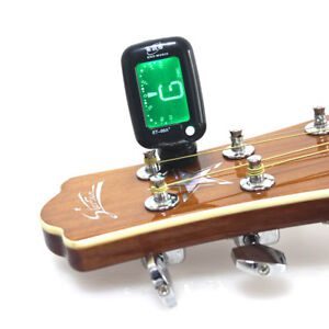 Details about Clip-On Digital LCD Chromatic Electric Guitar Bass Ukulele  Banjo Violin Tuner
