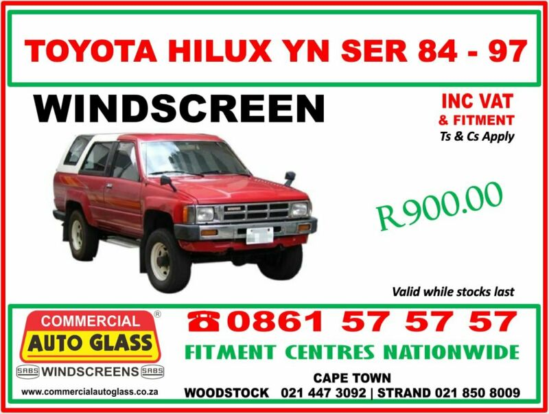 Toyota Hilux Windscreen specials