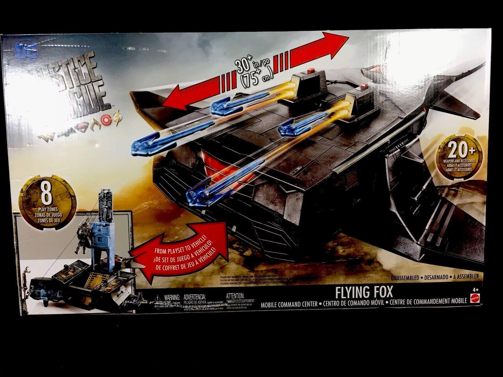Die gerechtigkeitsliga flying fox mobile kommandozentrale mit 8 spielbereiche   neu